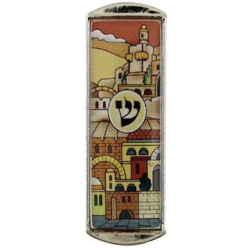Auto Mesusa *Jerusalem* gelb 5cm