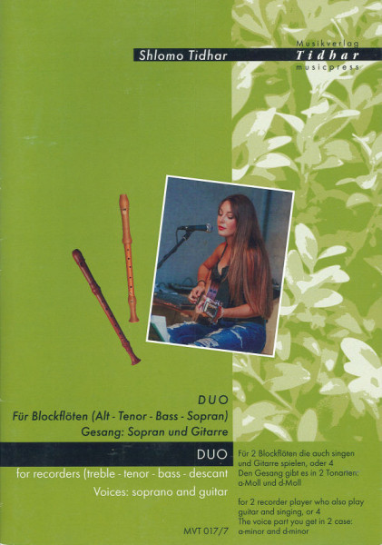 Duo für Blockflöten (Alt - Tenor - Bass - Sopran)
