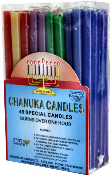 Chanukka Kerzen bunt oder weiss LUX 13,5 cm