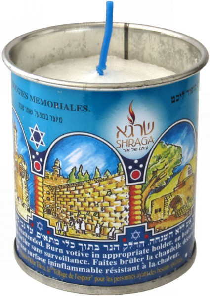 Kerze *Jahrzeit* (Seelenkerze) Brenndauer 24h