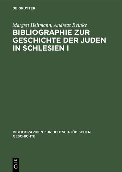 Bibliographie zur Geschichte der Juden in Schlesien