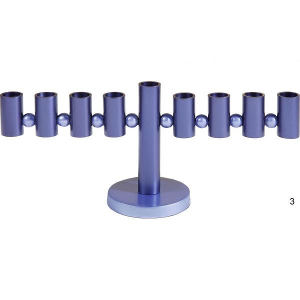 Chanukia *Waage,* eloxiert Metall blau 14 cm