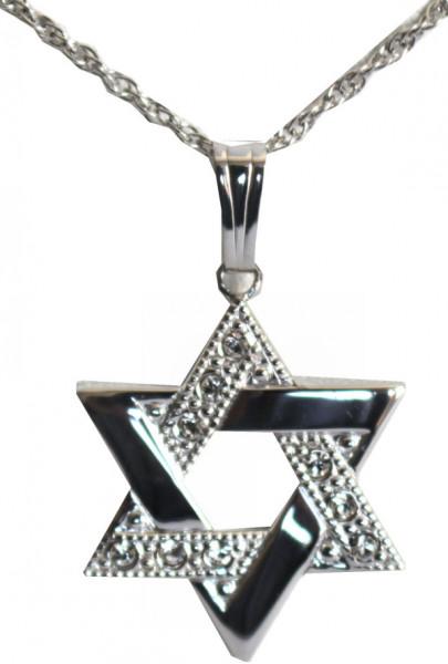 Halskette *Stern* mit Kristall-Steinchen Sterlingsilber