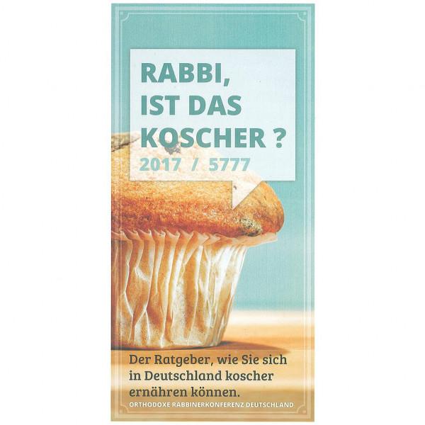Rabbi, ist das koscher? Koscher-Liste Deutschland 2017