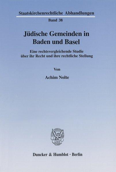 Jüdische Gemeinden in Baden und Basel