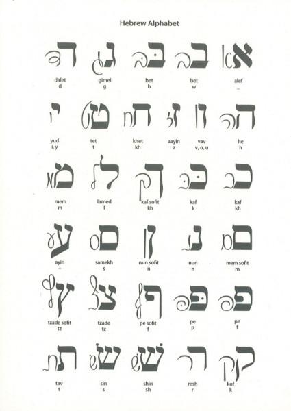 Notizbuch Blanko Hebräisches Alef Bet Broschur schwarz/weiss A 5