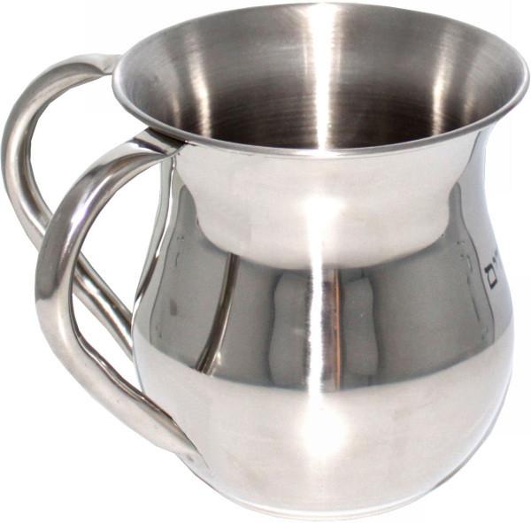 Netillat Yadaim Handwaschkrug *bauchig* mattsilbernes Metall 12cm