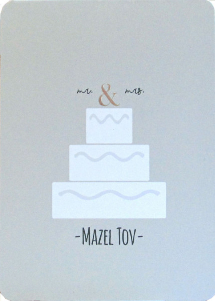 Mr. & Mrs. Mazel Tov Karte