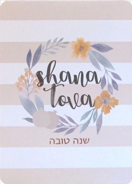Shana Tova Karte Flowers
