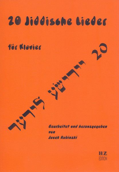 20 Jiddische Lieder für Klavier